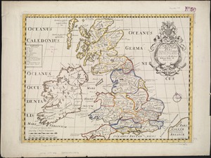 A new map of the Brittish Isles shewing their antient people, cities, and towns of note, in the time of the Romans