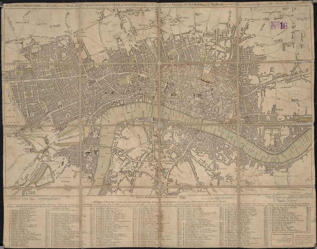 The London directory, or a new & improved plan of London, Westminster, & Southwark