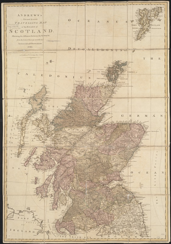 Andrews's new and accurate travelling map of the roads of Scotland