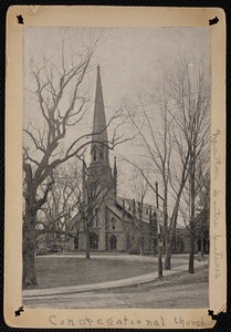 Churches. Newton, MA. First Church, Station & Centre Sts, NCentre, now torn down