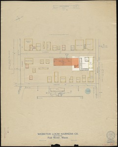 Webster Loom Harness Co. (Wood Working), Fall River, Mass. [insurance map]