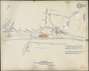Fitchburg Paper Company, Fitchburg, Mass., Tenements. [insurance map]