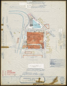 "Independent Lock Company ""Daniel Street Plant,"" Fitchburg, Mass. [insurance map]"