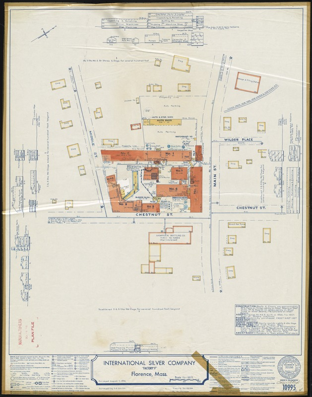 "International Silver Company ""Factory F,"" Florence, Mass. [insurance map]"