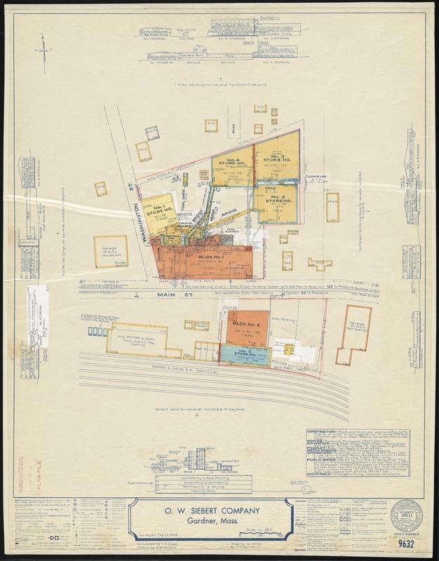 O. W. Siebert Company, Gardner, Mass. [insurance map]