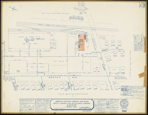 "American Woolen Company and Textile Realty Company and the Pocono Company ""Oil and Soap Plant,"" Medford, Mass. [insurance map]"