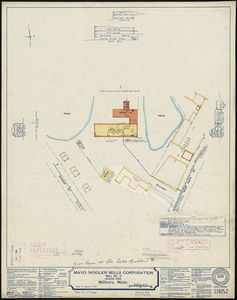 "Mayo Woolen Mills Corporation ""Mill No. 3"" (Woolen Yarn), Millbury, Mass. [insurance map]"
