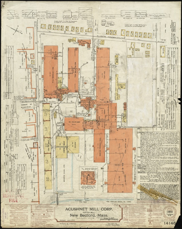 Acushnet Mill Corp. (Cotton Mill), New Bedford, Mass. [insurance map]