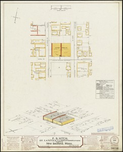F. B. Hitch (Storehouse), Est. E. A. Tuttle & P. J. Hurley (Owners of Bldg), New Bedford, Mass. [insurance map]