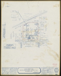 Jacob Genesky (Bldg.), Beacon Manufacturing Company, Tenant, New Bedford, Mass. [insurance map]