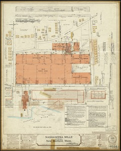 Nashawena Mills (Cotton Mill), New Bedford, Mass. [insurance map]