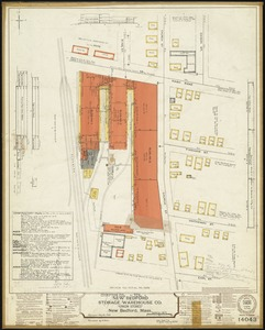 "New Bedford Storage Warehouse Co. ""Union Stores,"" New Bedford, Mass. [insurance map]"