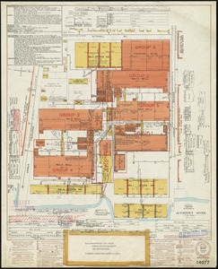 "New England Cotton Yarn Co., Bennett Department, ""Depts. Nos. 1, 5, 3A & 2,"" New Bedford, Mass. [insurance map]"