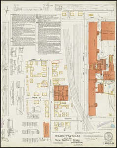 Wamsutta Mills (Cotton Mill), New Bedford, Mass. [insurance map]