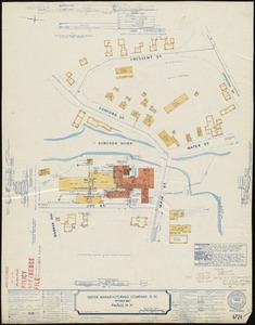"""Exeter Manufacturing Company, et al. """"Pittsfield Mill,"""" Pittsfield, N.H. [insurance map]"""
