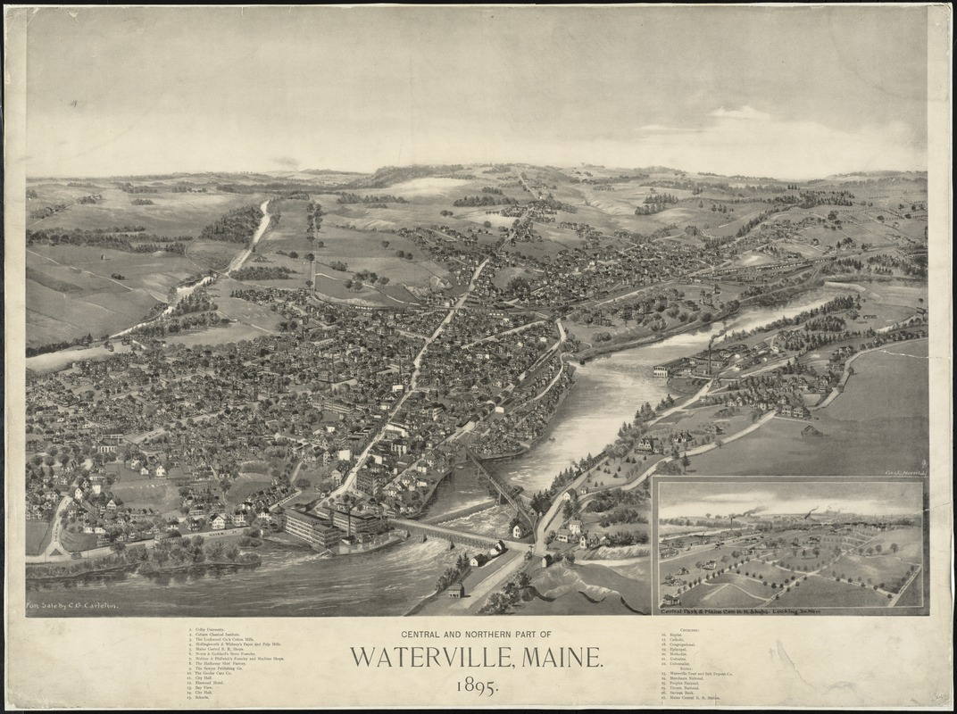 Central and Northern Part of Waterville, Maine, 1895 /