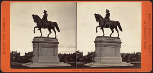 Washington equestrian statue, Public Garden, Boston, Mass.