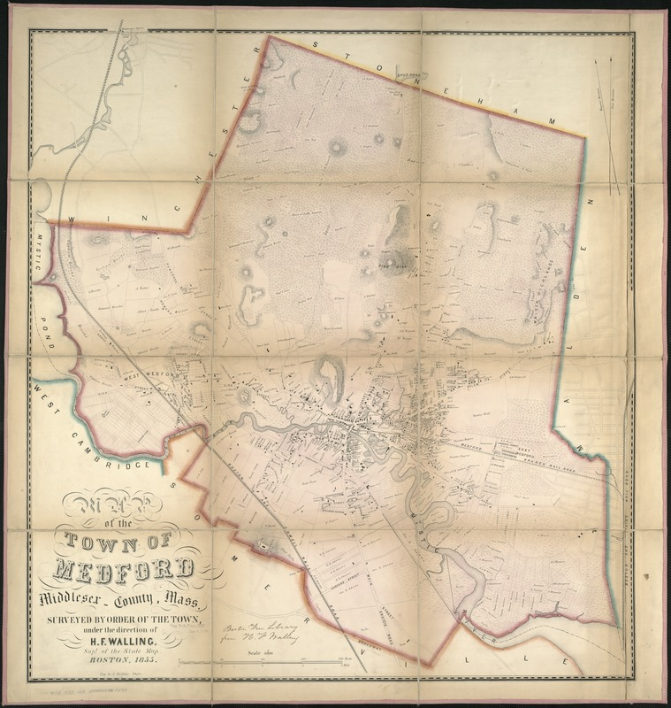 Map of the town of Medford, Middlesex County, Mass