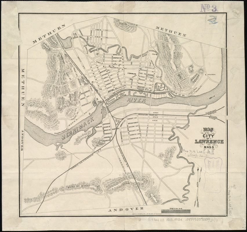 Map of the city of Lawrence Mass
