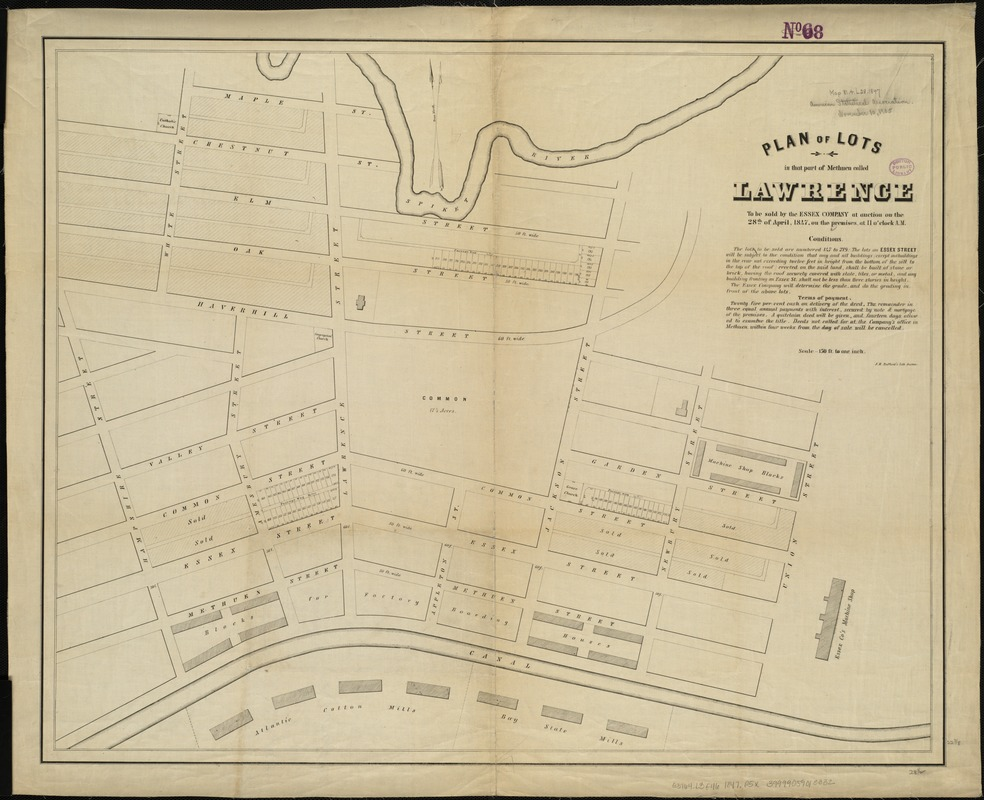 Plan of lots in that part of Methuen called Lawrence
