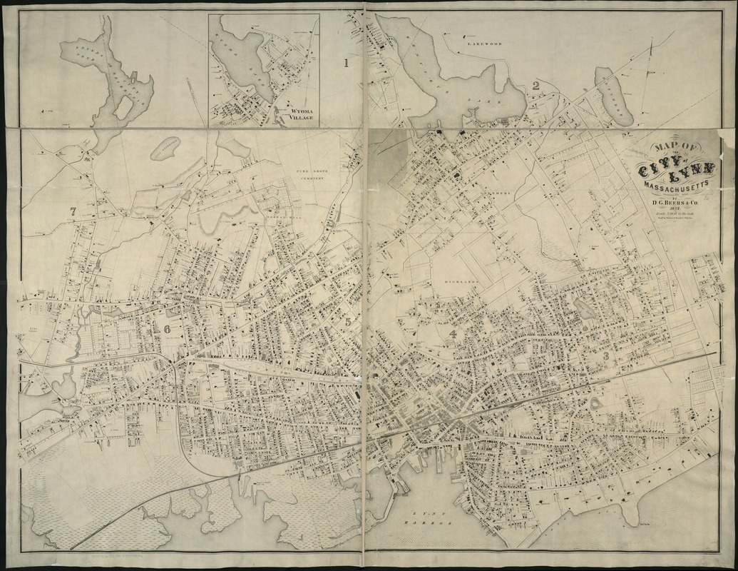 Map of the city of Lynn Massachusetts