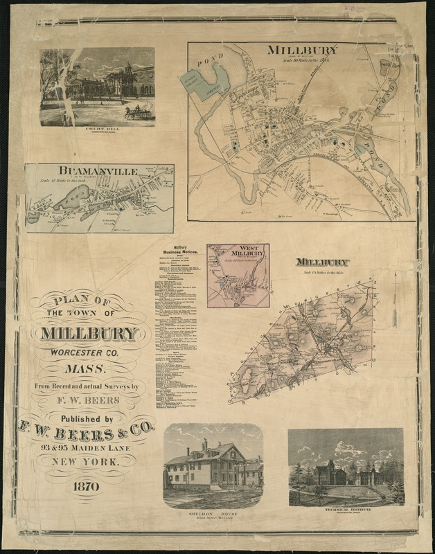Plan of the town of Millbury