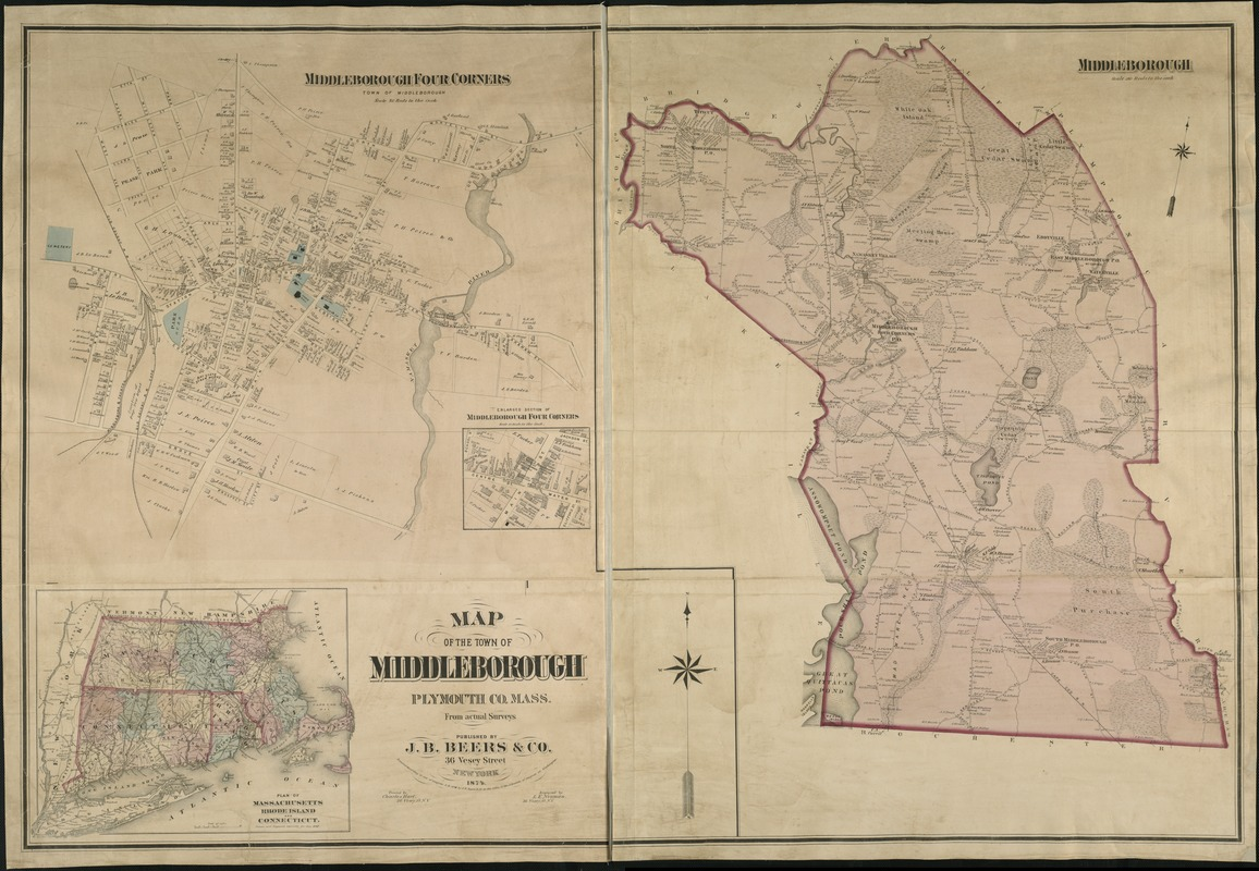 Map of the town of Middleborough