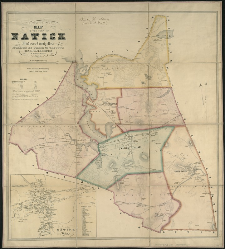 Map of the town of Natick, Middlesex County, Mass