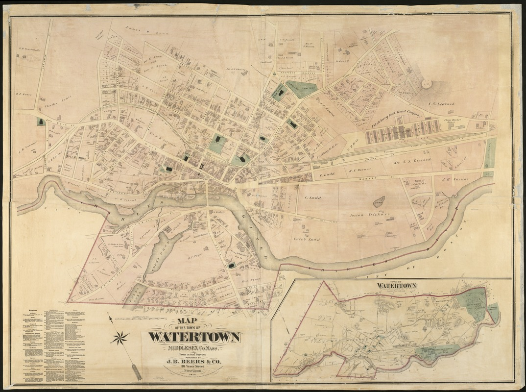 Map of the town of Watertown Norman B Leventhal Map Center