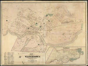 Historical map of Watertown, 1630-1930 - Norman B. Leventhal Map ...