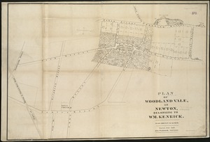 Plan of Woodland Vale, in Newton, belonging to Wm. Kenrick