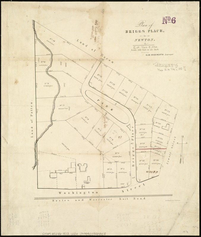 Plan of Briggs Place, in Newton