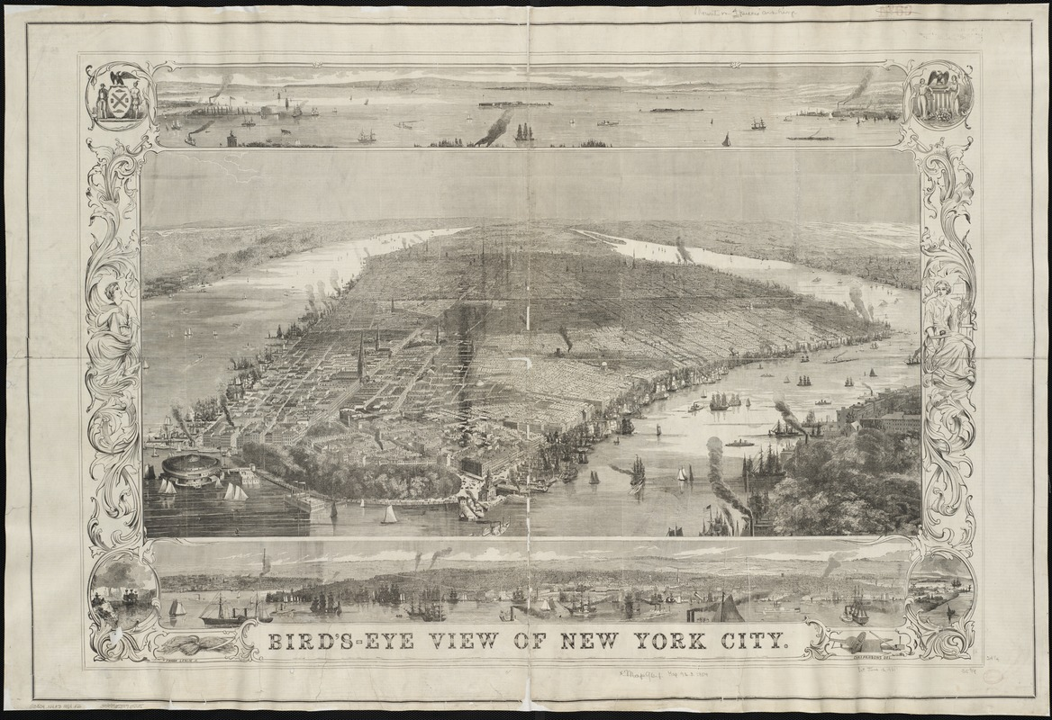 Bird's-eye view of New York City