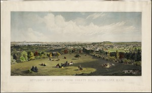 Environs of Boston, from Corey's Hill, Brookline, Mass
