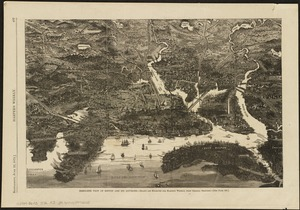 Bird's-eye view of Boston and its environs