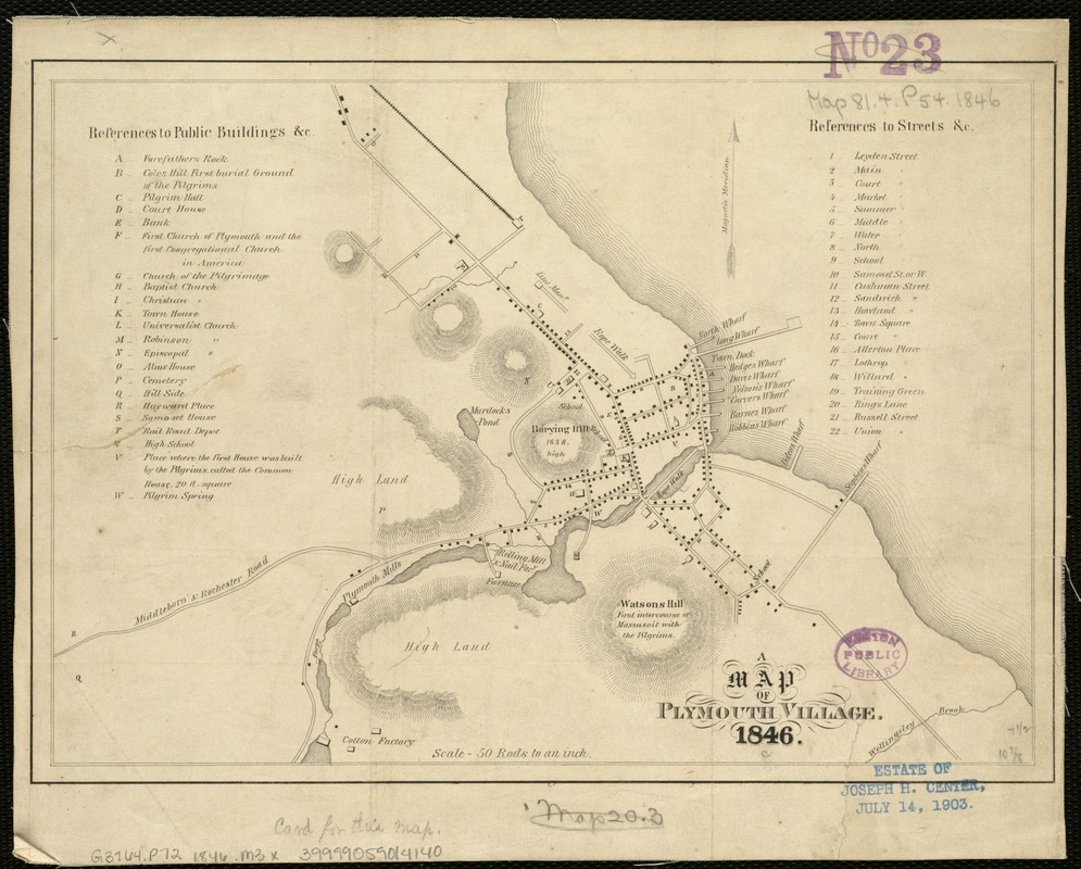 A map of Plymouth Village