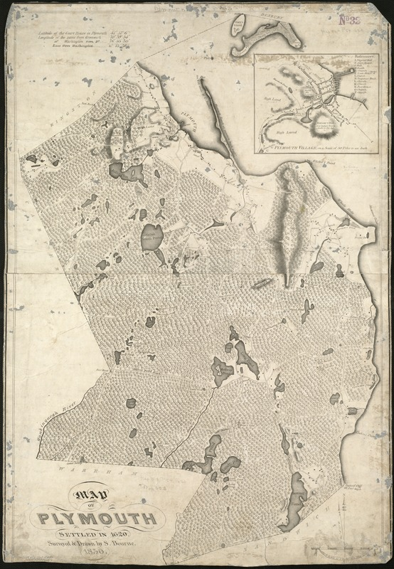 Map of Plymouth settled in 1620