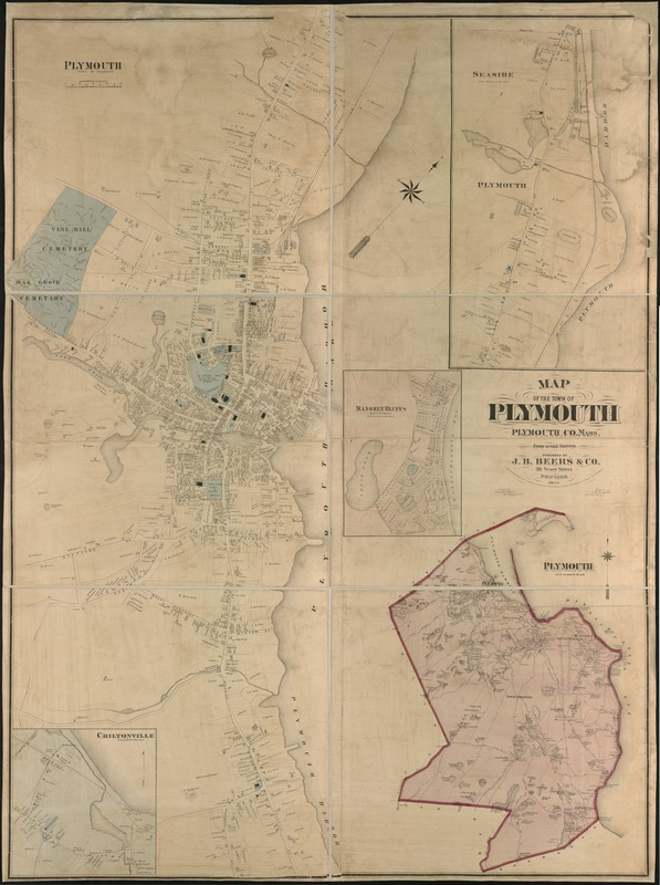Map of the town of Plymouth