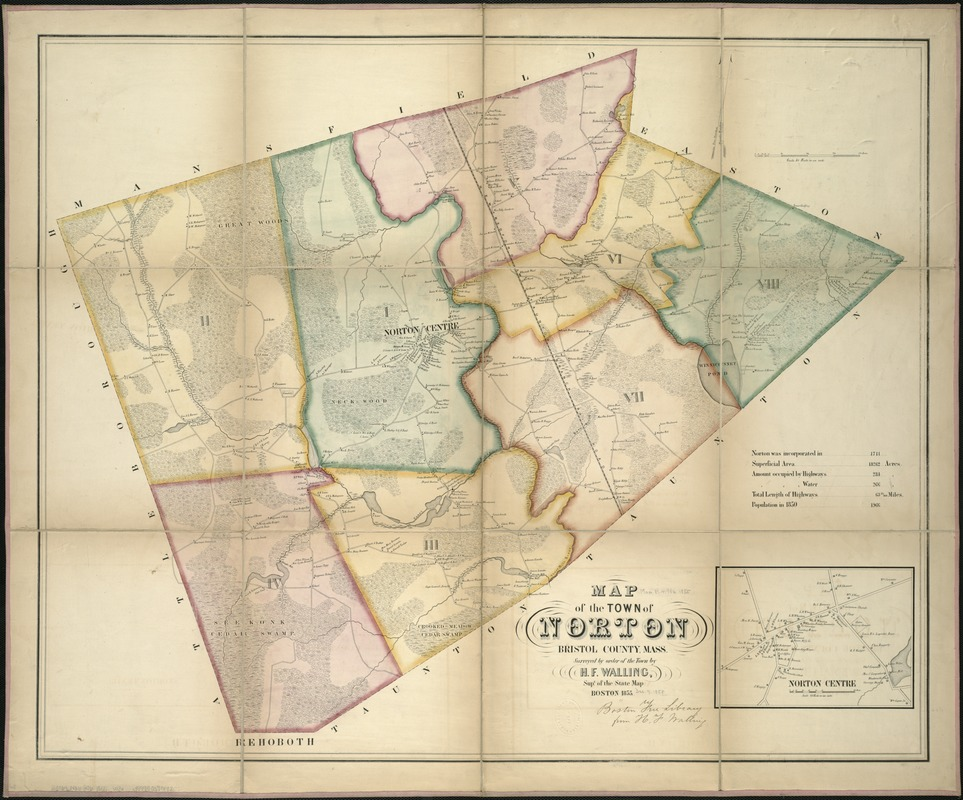 Map of the town of Norton, Bristol County, Mass