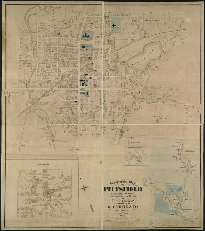 Topographical map of Pittsfield, Berkshire Co., Mass