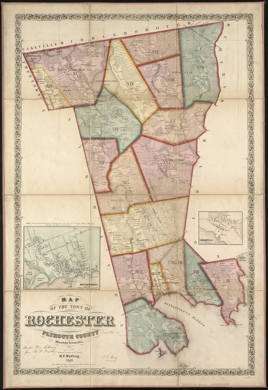 Map of the town of Rochester, Plymouth County, Massachusetts