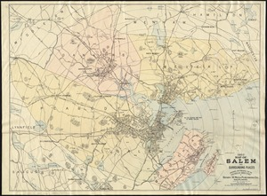 1903 Map of Salem and surrounding places
