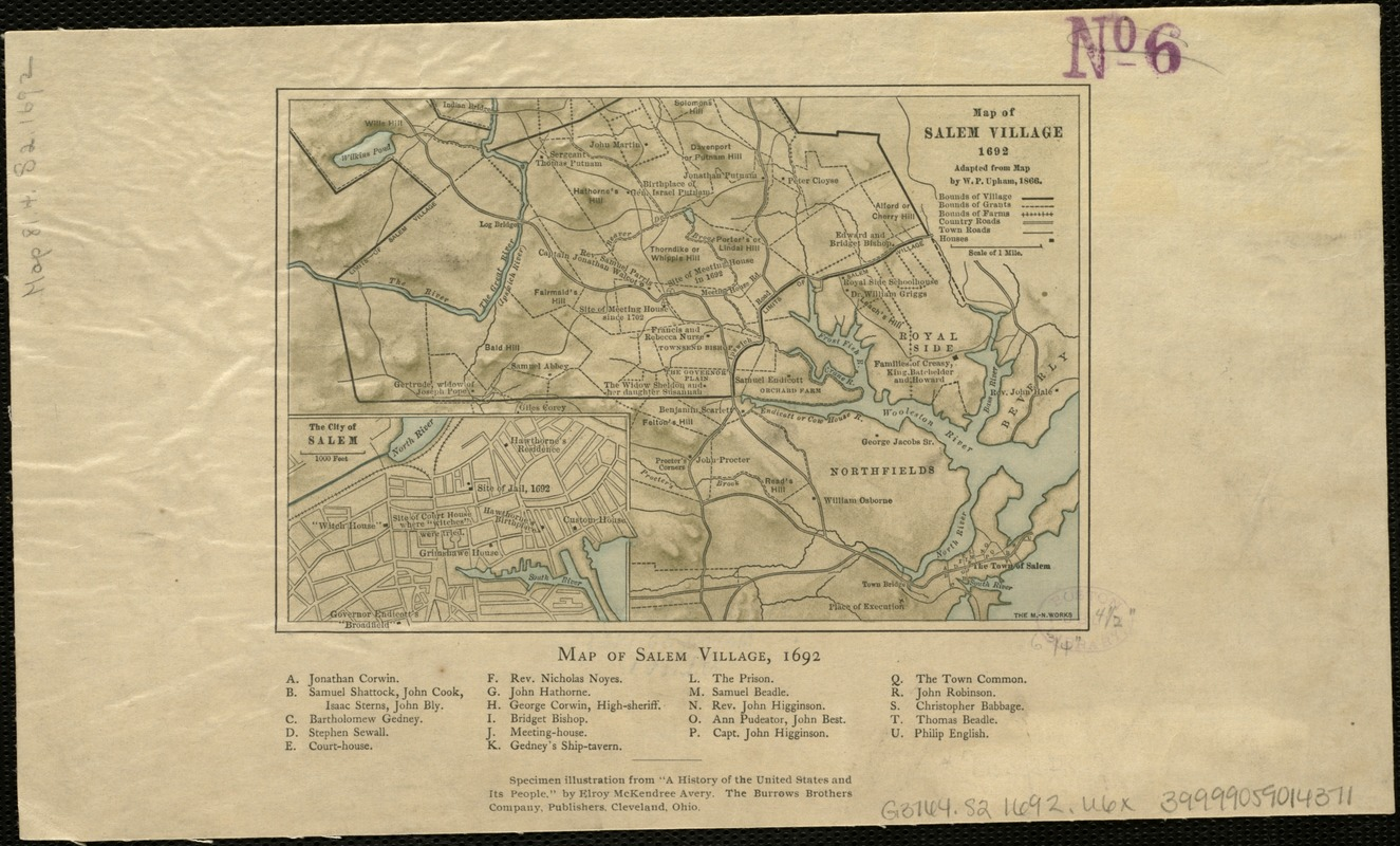 Map of Salem Village 1692