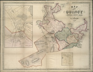 Map of the town of Quincy, Norfolk County, Mass