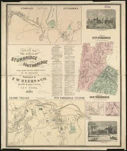 Plan of the towns of Sturbridge and Southbridge