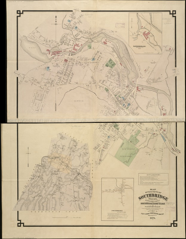 Map of the town of Southbridge, Mass
