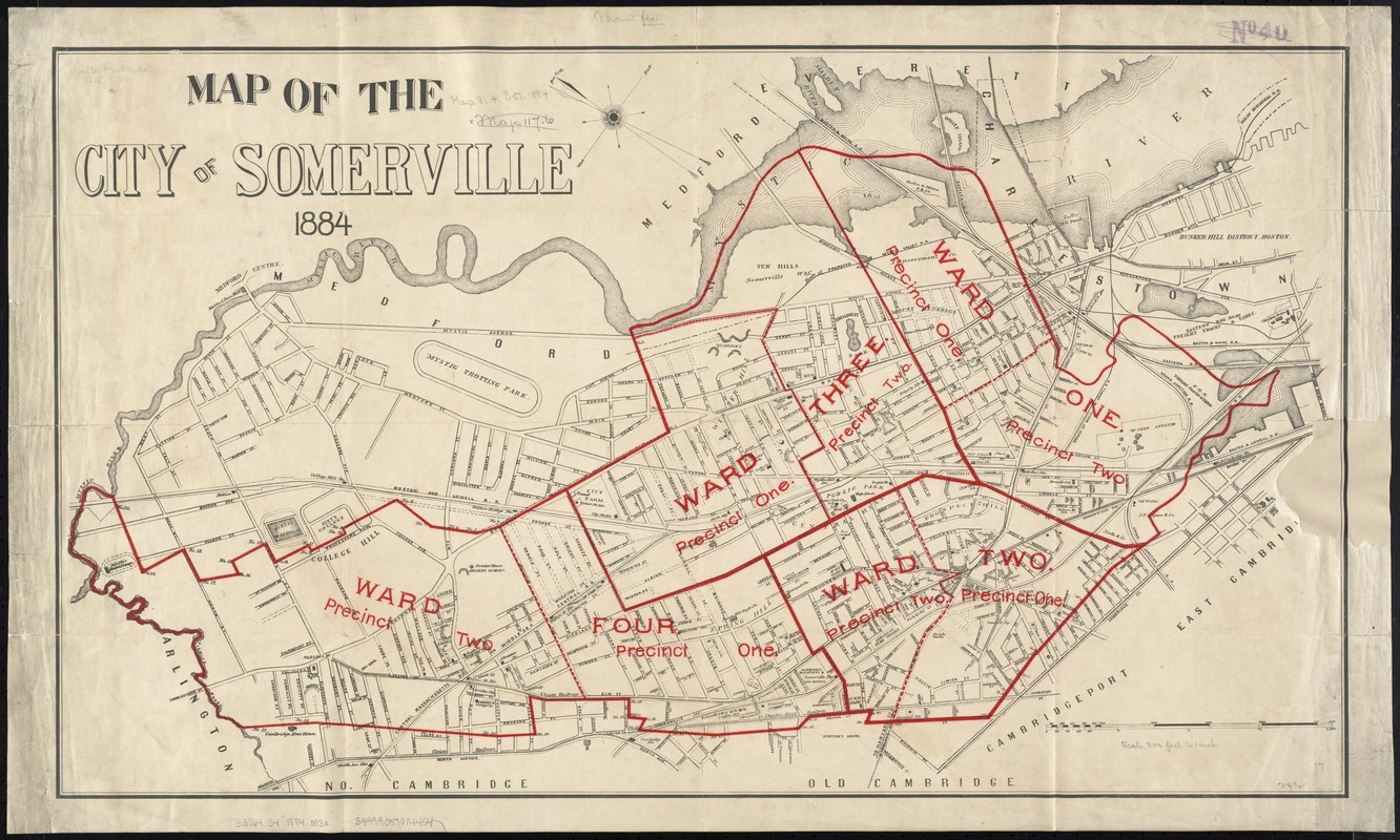 Map of the city of Somerville 1884