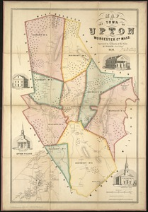 Map of the town of Upton, Worcester Co., Mass