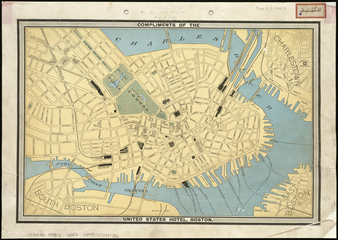 [Map of the city of Boston]