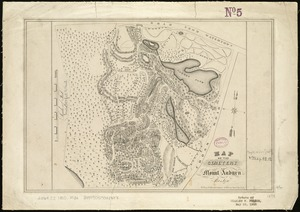 Map of the cemetery of Mount Auburn, Boston